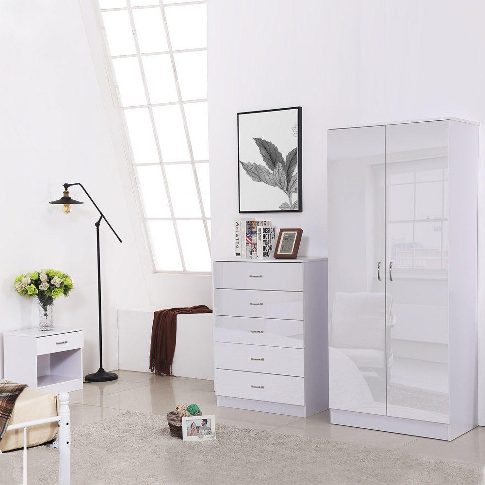 Chilton 2 Door Wardrobe - White High Gloss